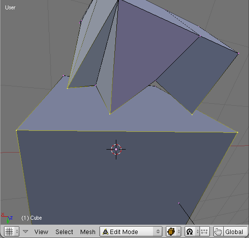 Select an edge and some vertices
